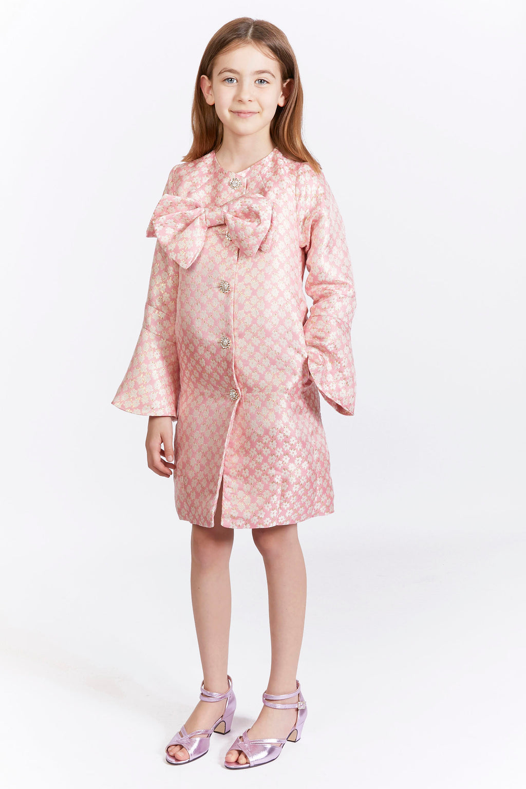 Kids Floral Brocade Jacket