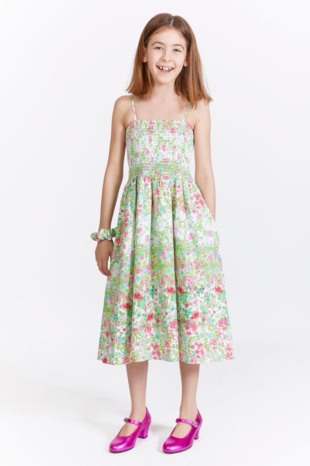 Kids Smocked Floral Dress