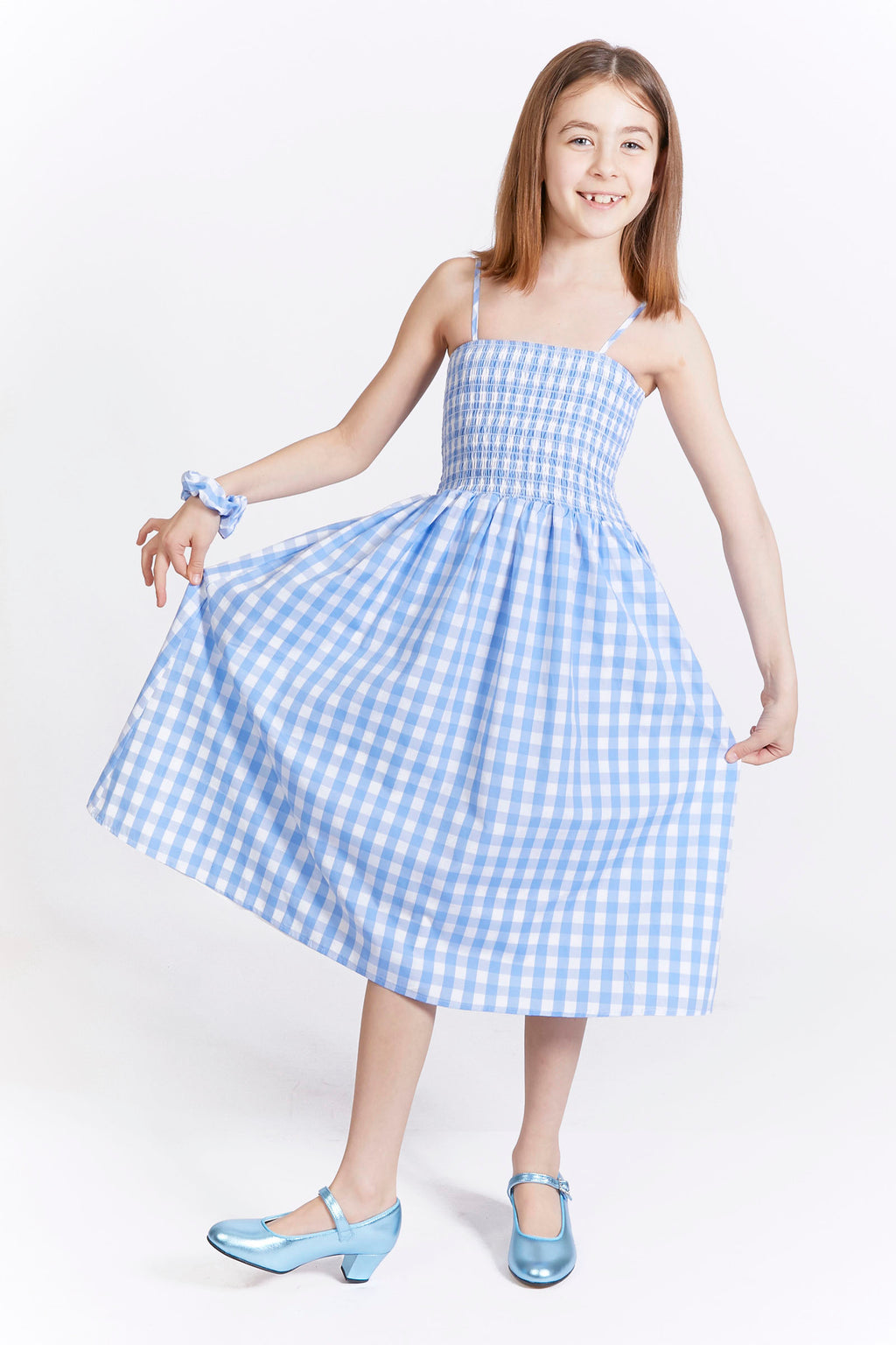 Kids Smocked Gingham Dress