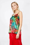 Ilona Rich Multicoloured Metallic Cami Top