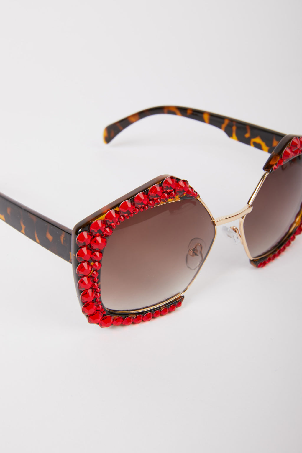 Geometric Diamante Embellished Sunglasses