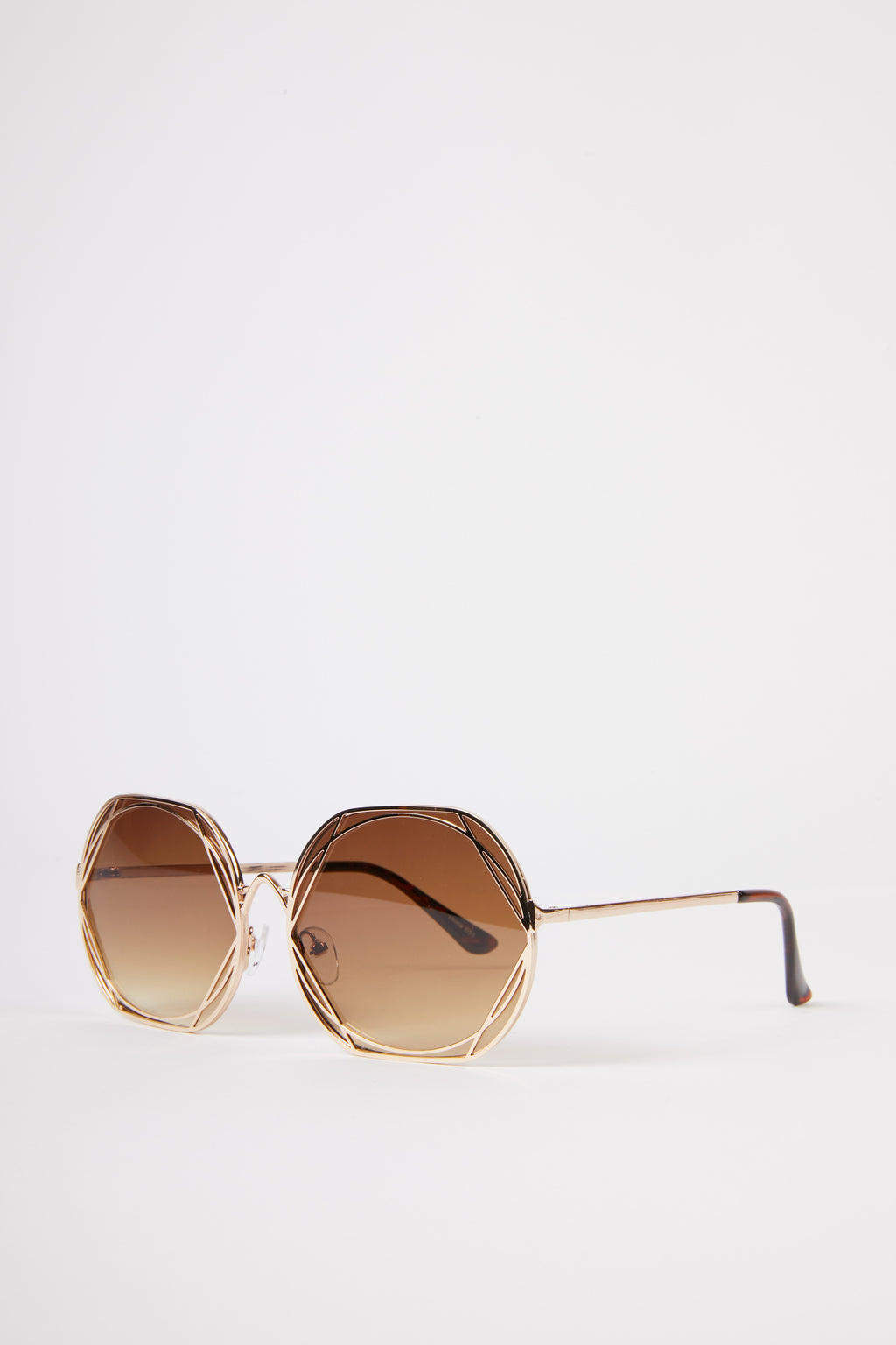 Round Geometric Sunglasses