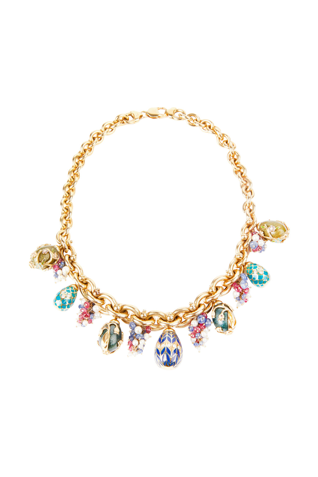 Floral Design Gold Chain Necklace