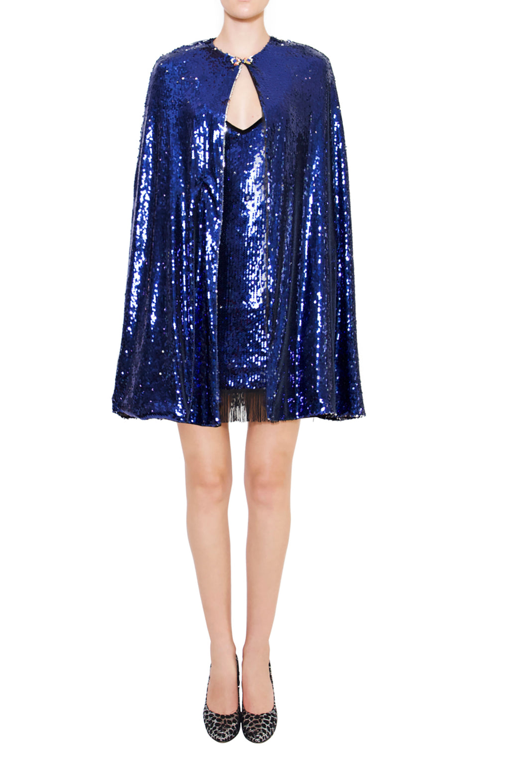 Ilona Rich Sequin Blue Cape