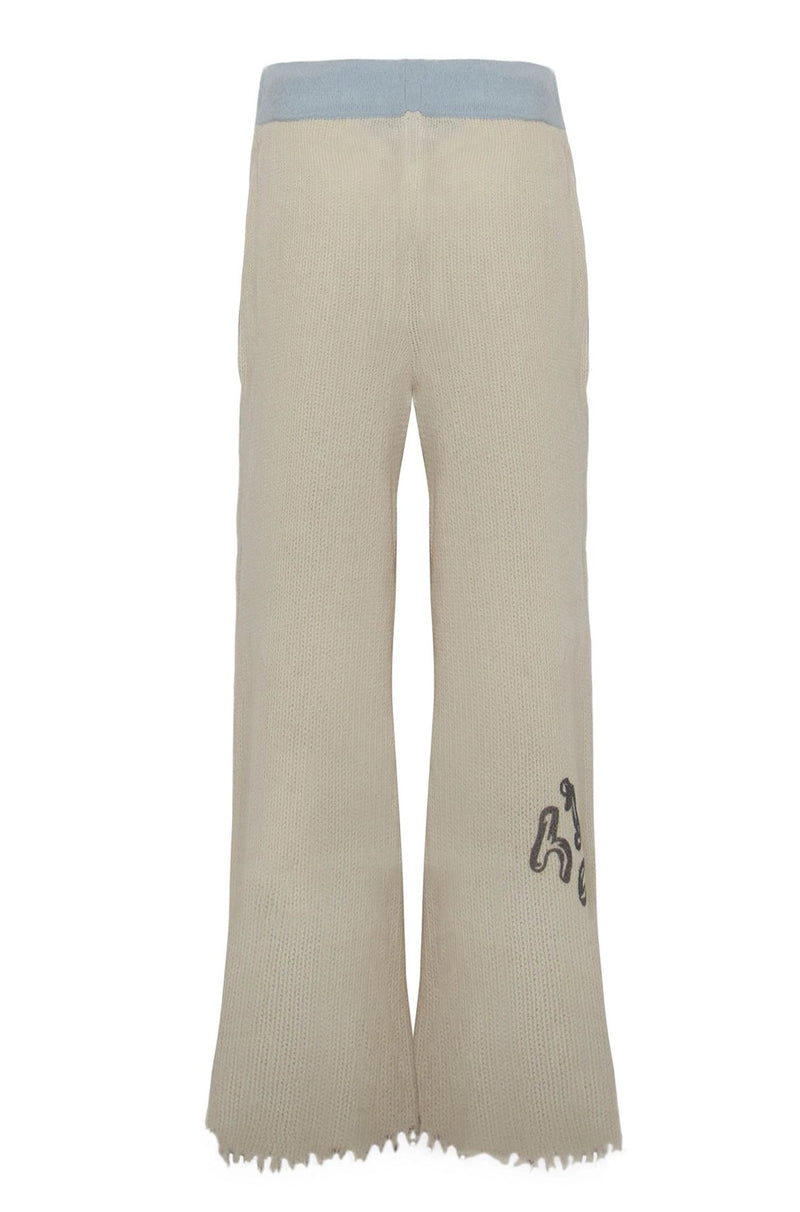 Adrian Waffle Cashmere Help Trousers Blue