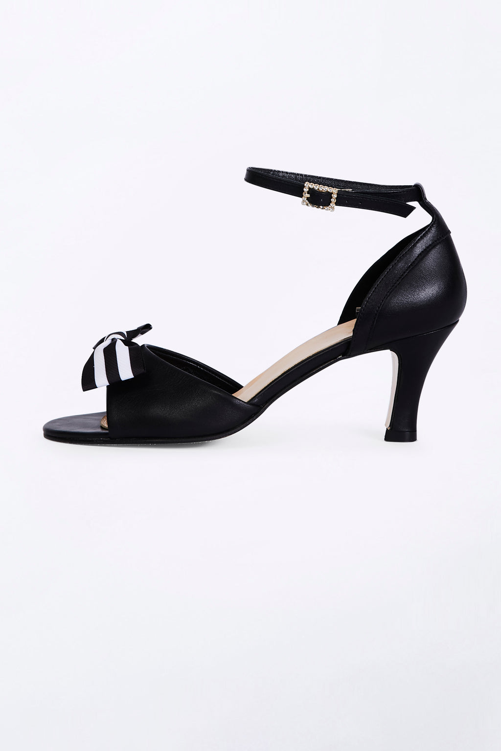 Black Dancing Heels with Double Pin