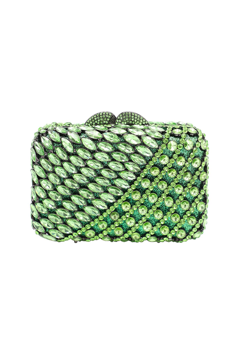 Green Diamante Evening Clutch