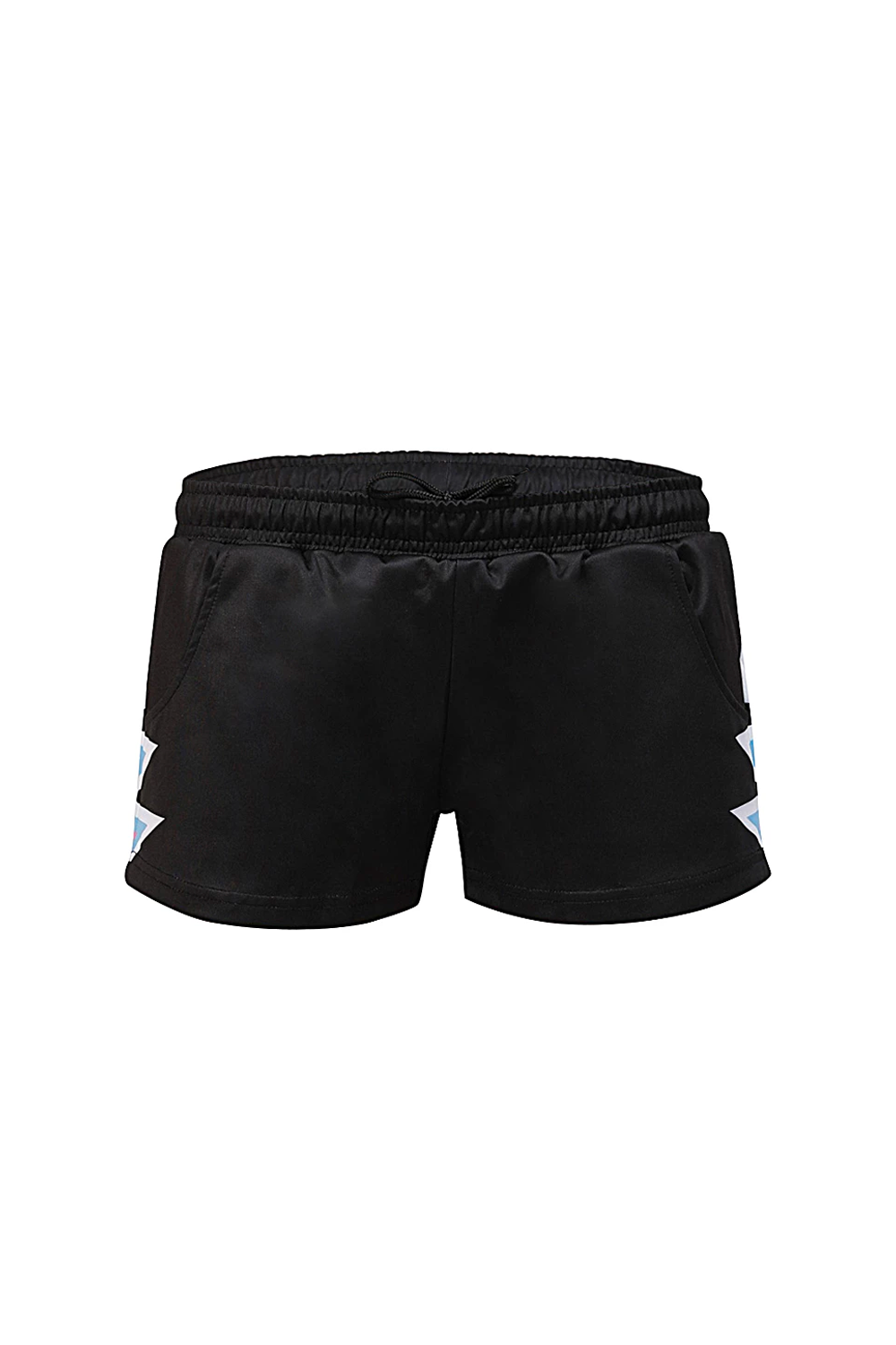 Black Heartbeat Sports Shorts