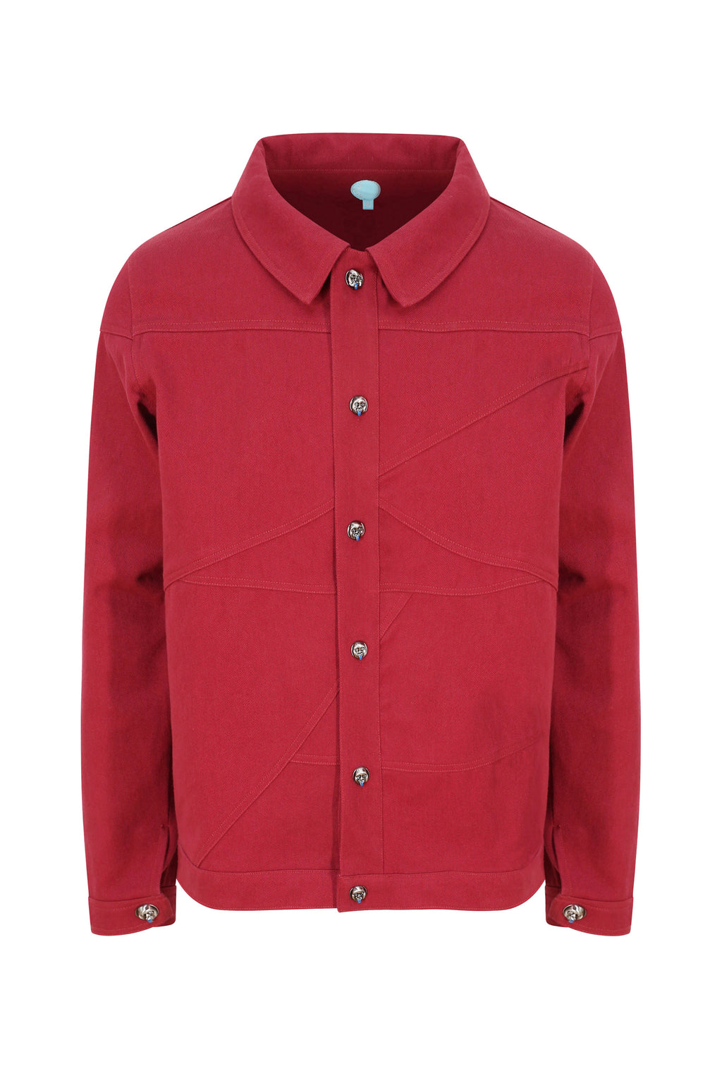 Adrian Unisex Deep Red Denim Jacket