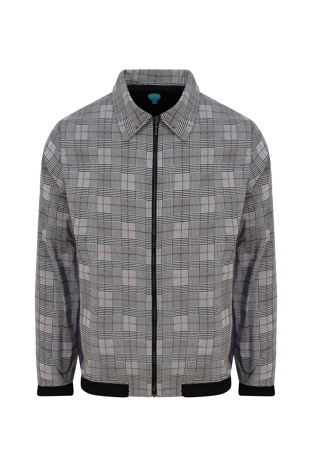 Adrian Schachter Grey Checkered Jacket