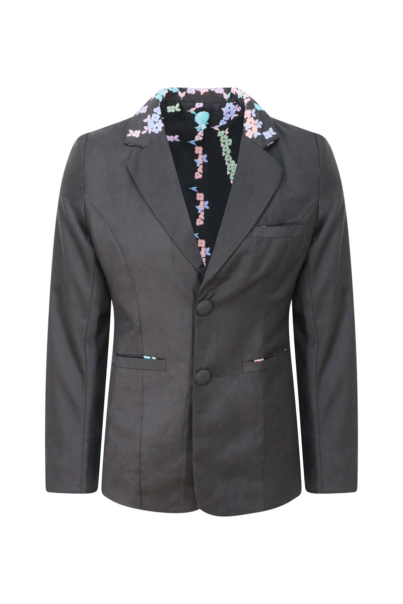 Adrian Schachter Floral Embroidered Suit Jacket
