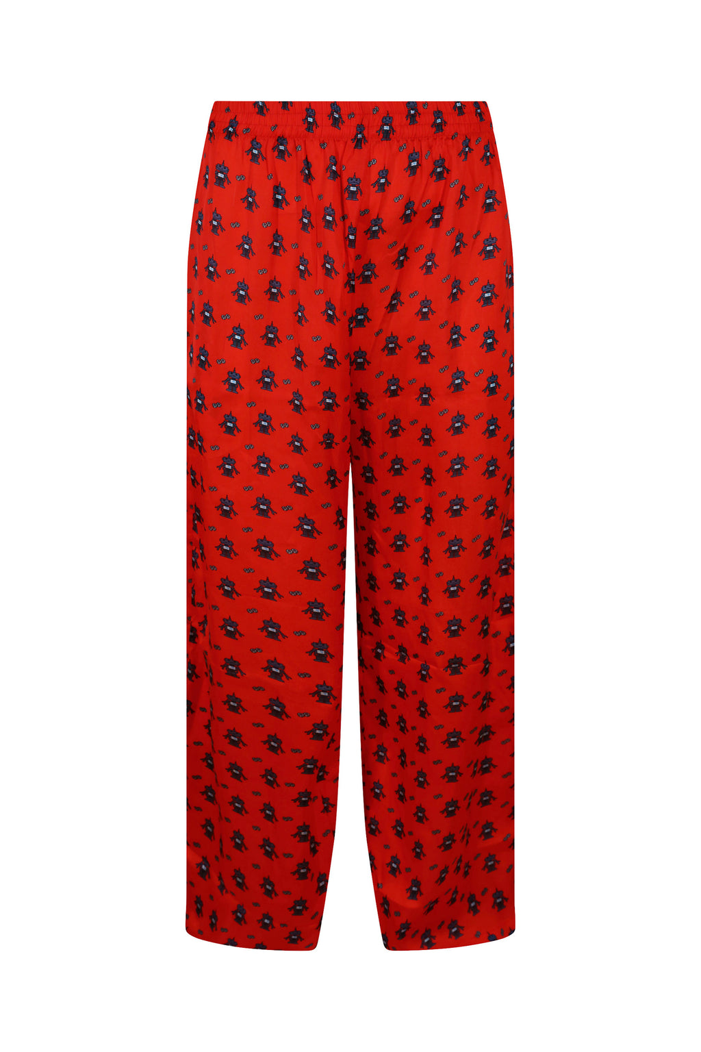 Red Robot Satin Trousers