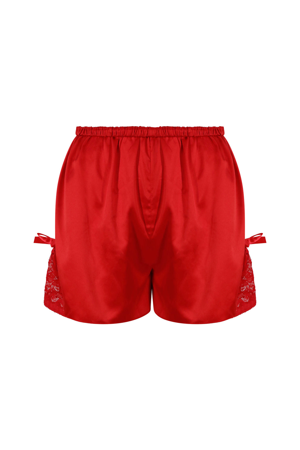 Red Satin Sleepwear Shorts