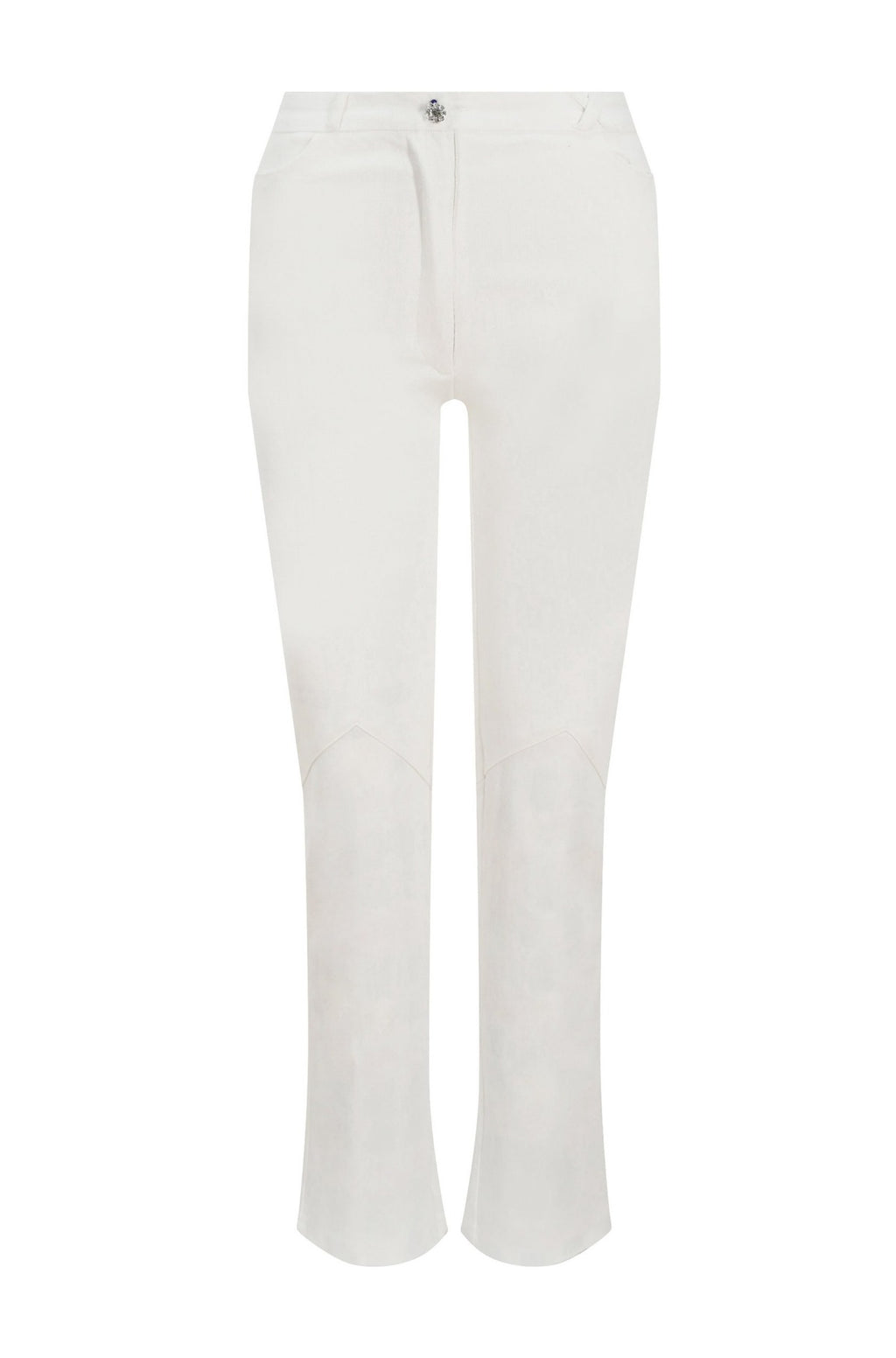 White Back Zip Jeans