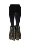 Ilona Rich Black Sequin Wide Leg Trousers