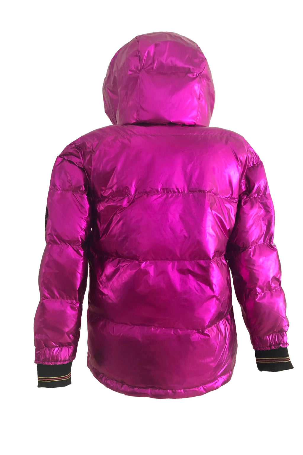 Metallic Fuchsia Puffer Jacket