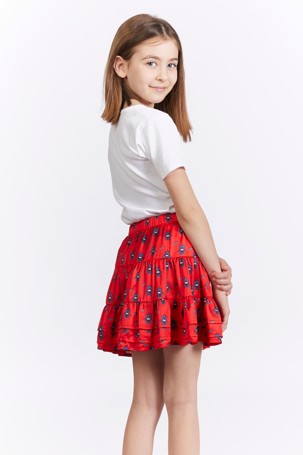 Kids Robot Print Skirt