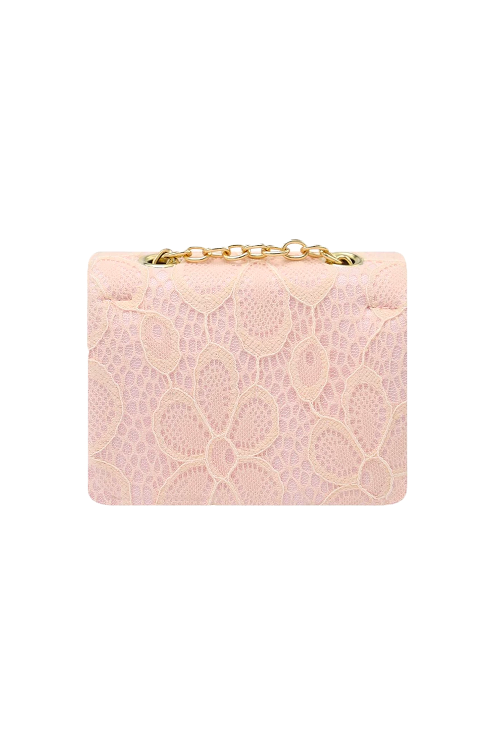 Light Pink Lace Floral Clutch