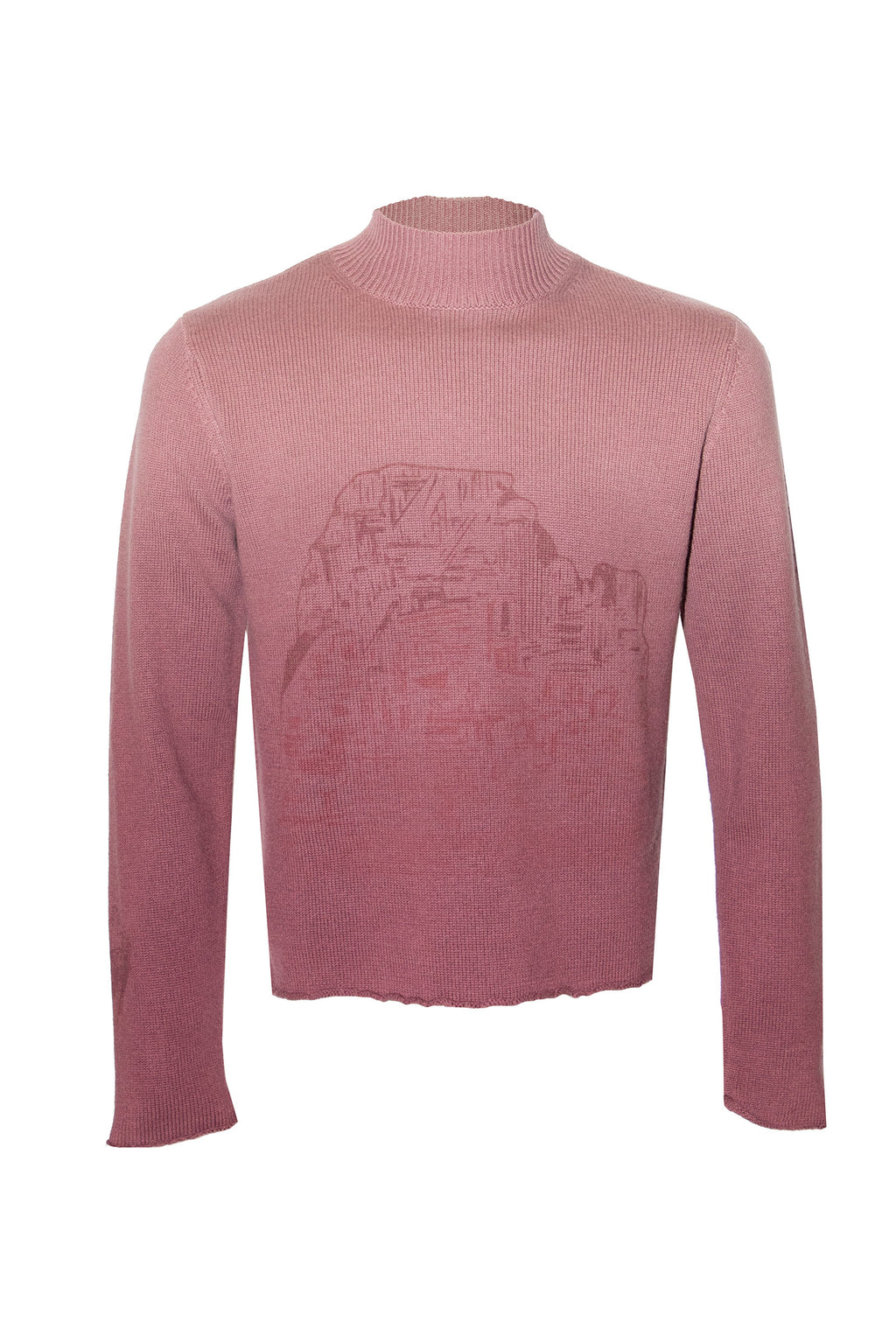 Adrian Unisex Ombre Pink Sweater