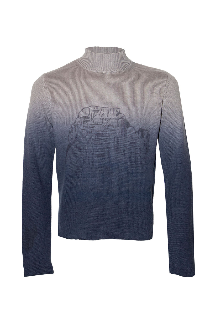 Adrian Unisex Ombre Blue Sweater