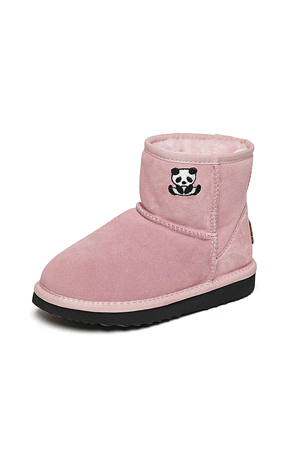 Kids Pink Panda Winter Boots
