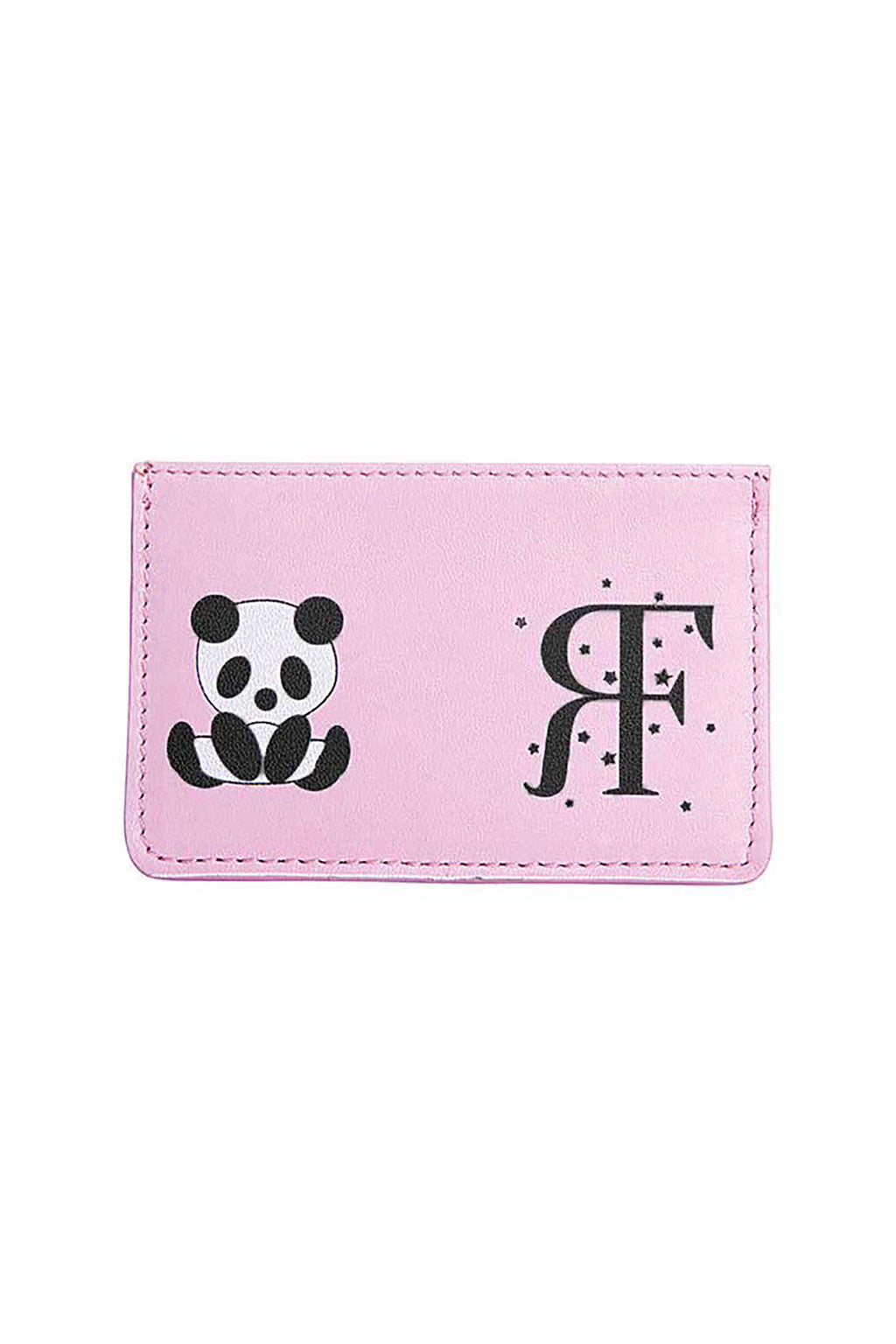 Pink Panda Logo Card Holder