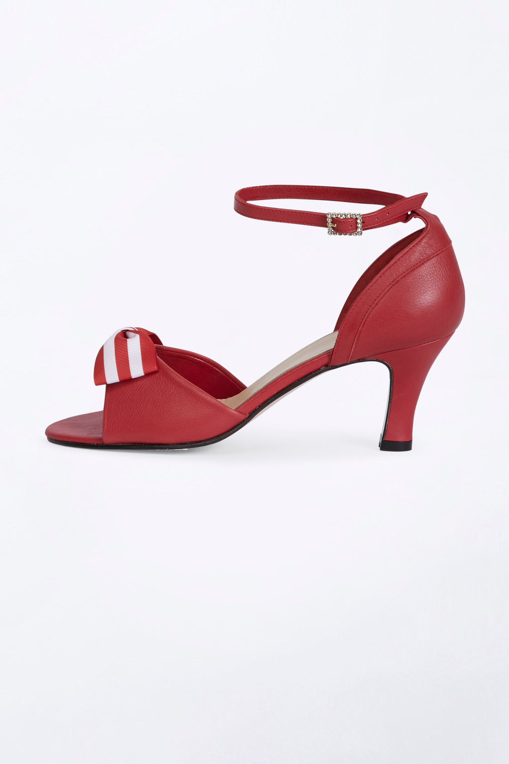 Red Sandals with Double Pin