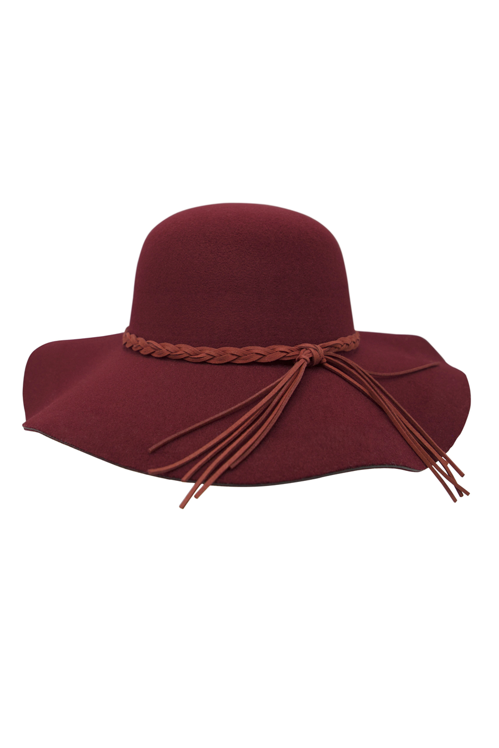 Womens Red Vintage Floppy Hat