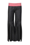 Pleated Wide Leg Jeans with Elasticated Waist