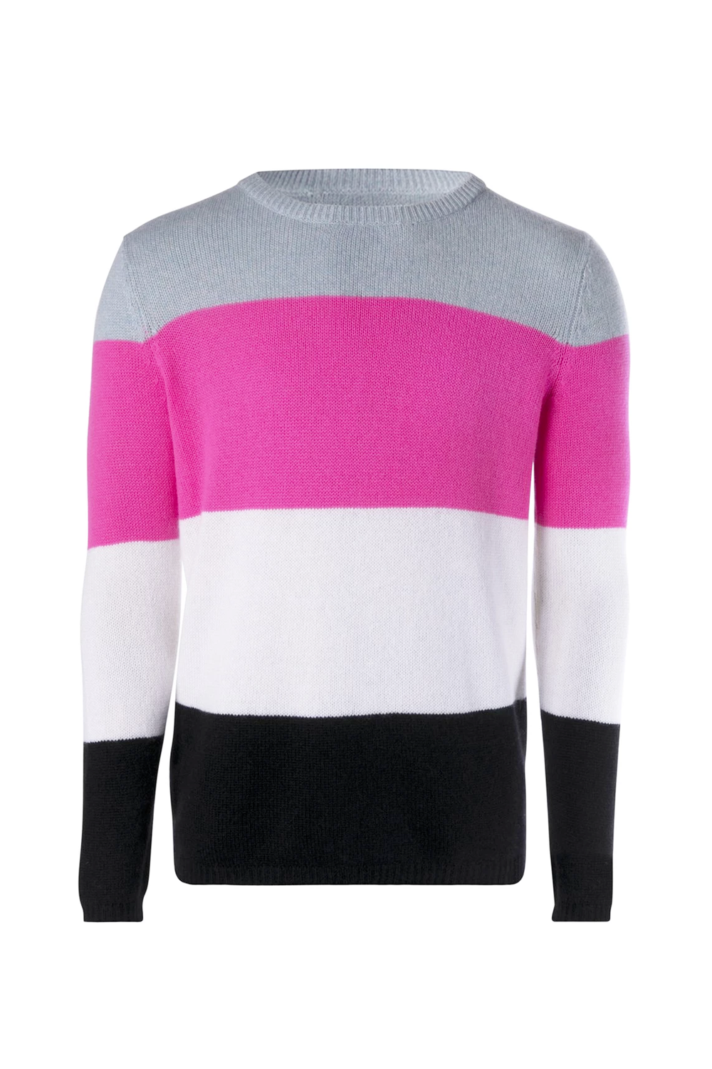 Unisex Pink Striped Cashmere Jumper