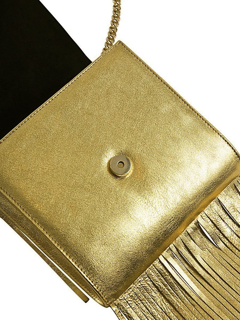 Gold Fringe Leather Bag