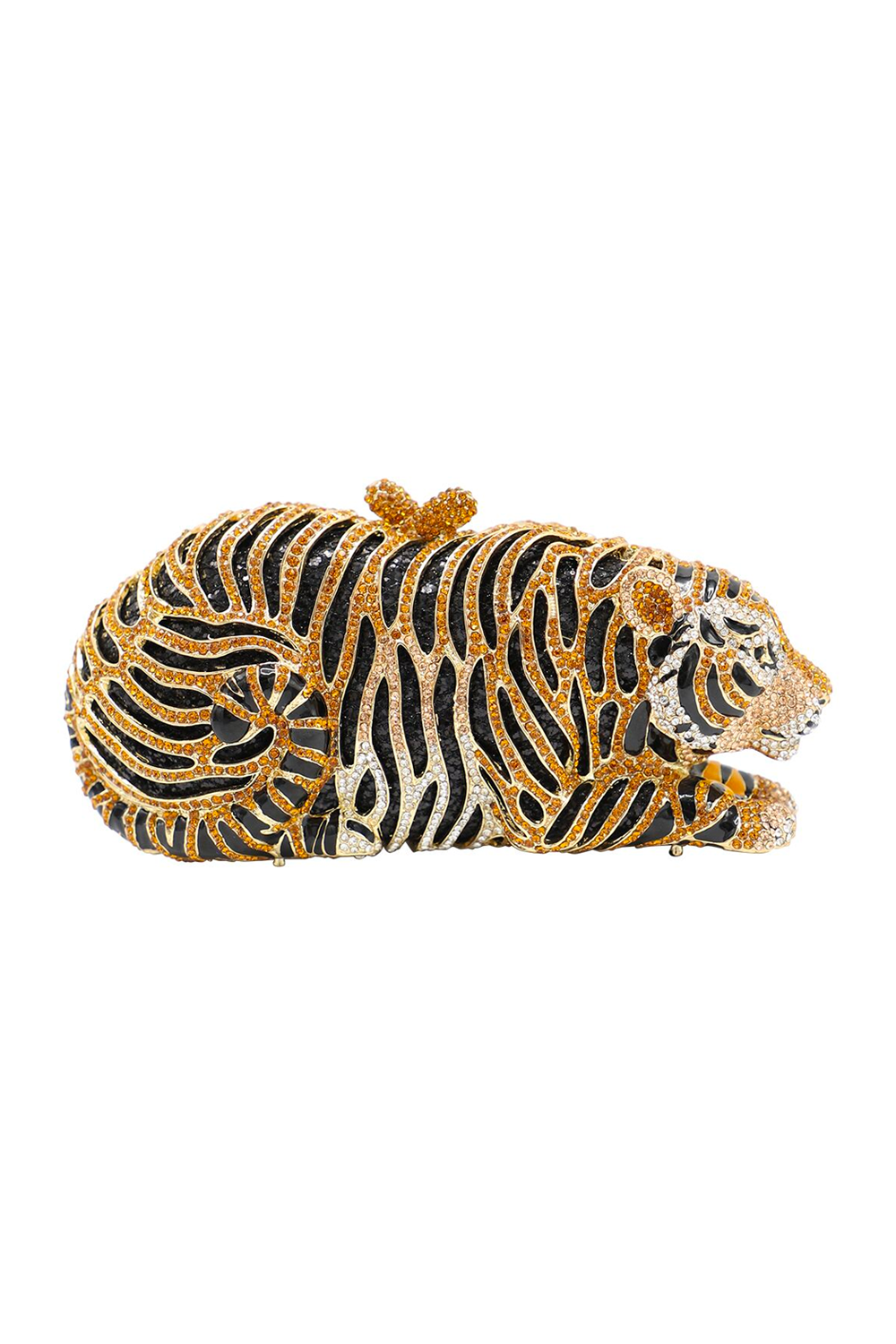 Diamante Tiger Evening Clutch