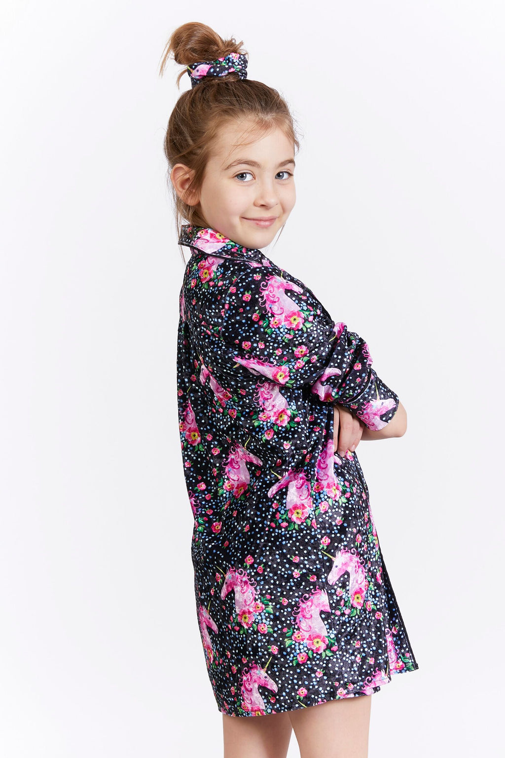 Kids Unicorn Velvet Blouse