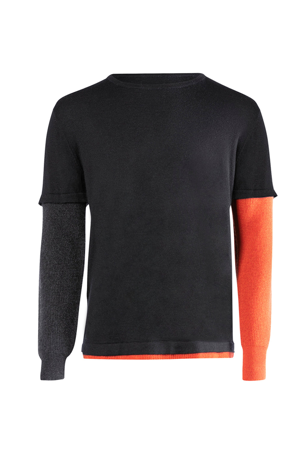 ISM Cashmere Waffle Long Sleeve Black/Red