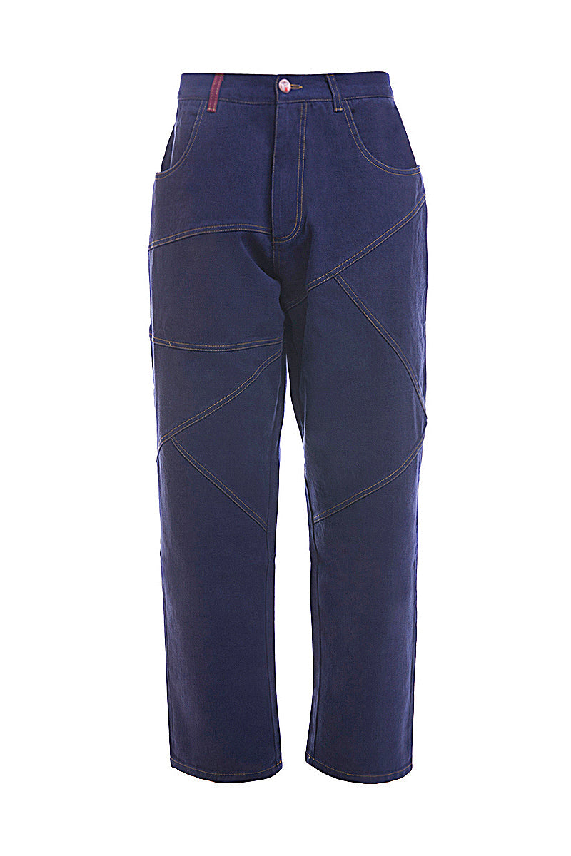 Adrian Unisex Dark Blue Denim Jeans