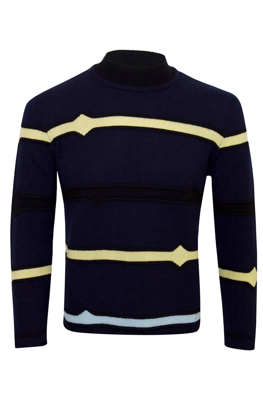 Adrian Unisex High Neck Striped Jumper