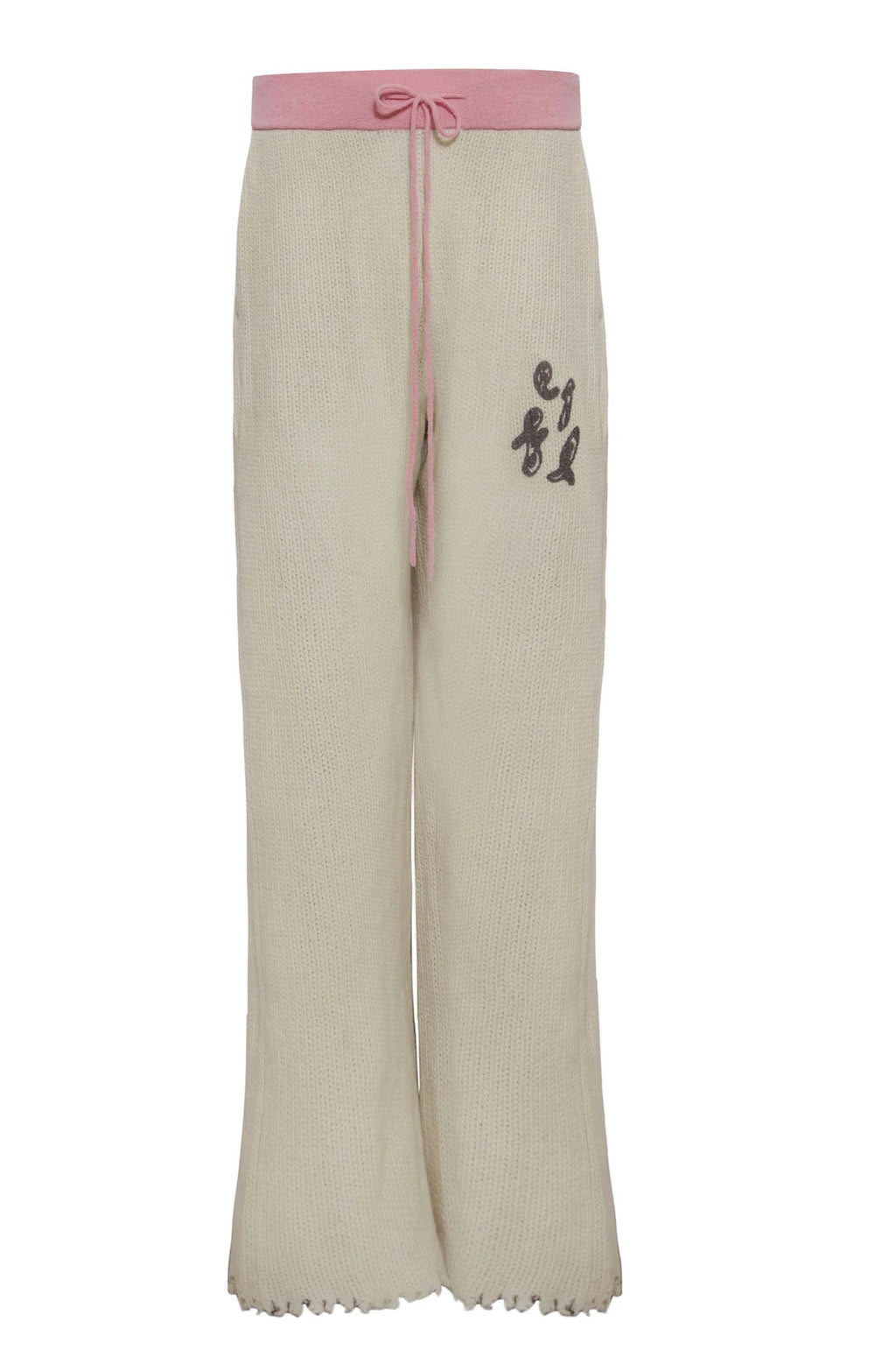 Adrian Waffle Cashmere Help Trousers Pink
