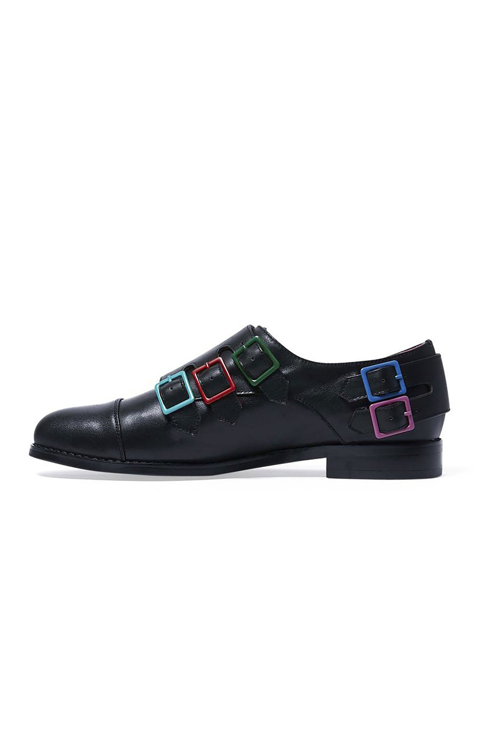 Adrian Womens Leather Buckled Shoes