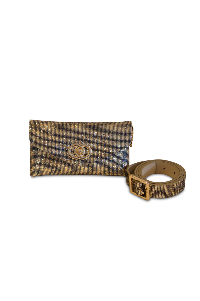 Rhinestone Waist Belt Bag