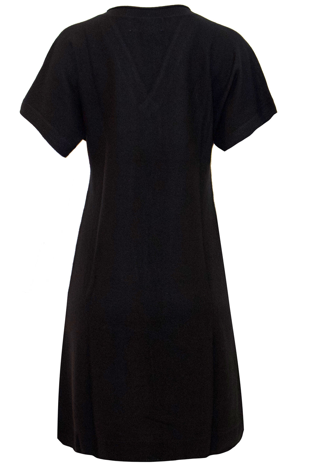 Classic V-neck Cashmere Dress