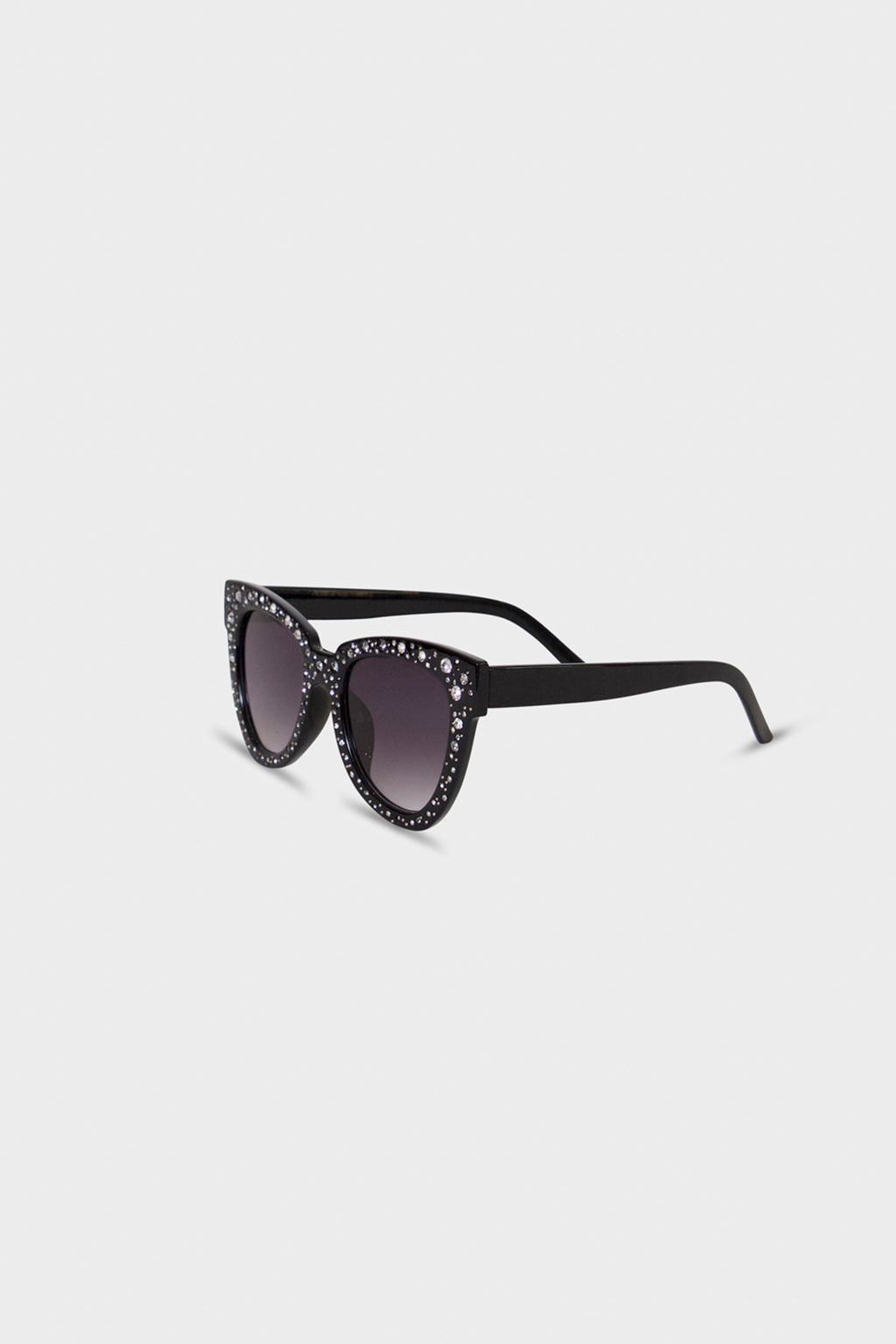 Black Rhinestone Sunglasses