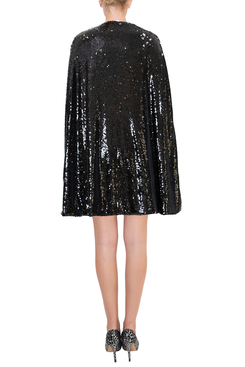 Ilona Rich Black Sequin Cape & Dress (Bundle)