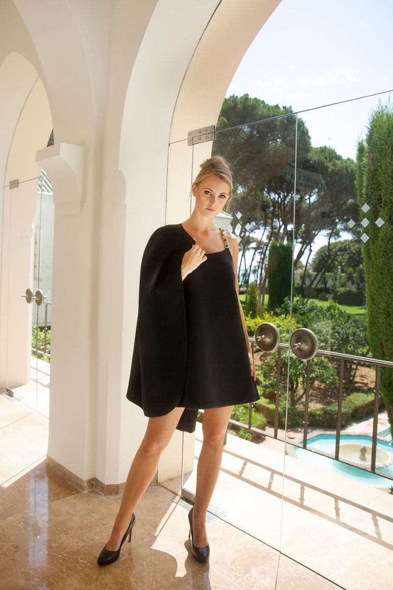 Ilona Rich Luxury Black Cape & Dress (Bundle)