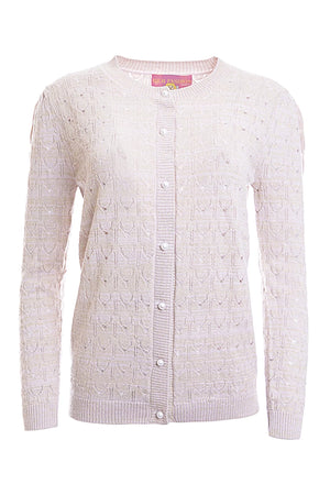 Lace Knit Cashmere Cardigan