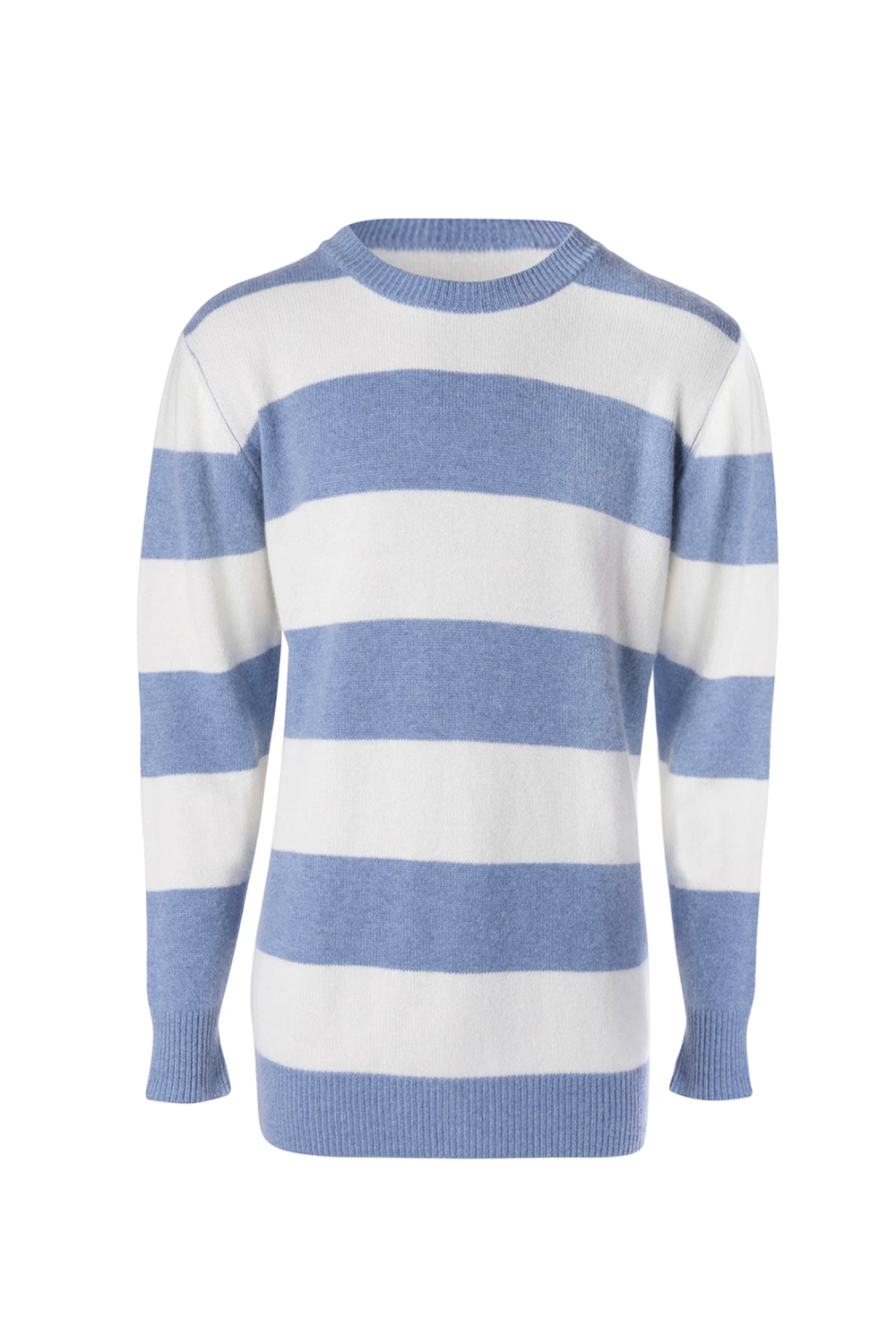 Unisex Blue and White Cashmere Jumper