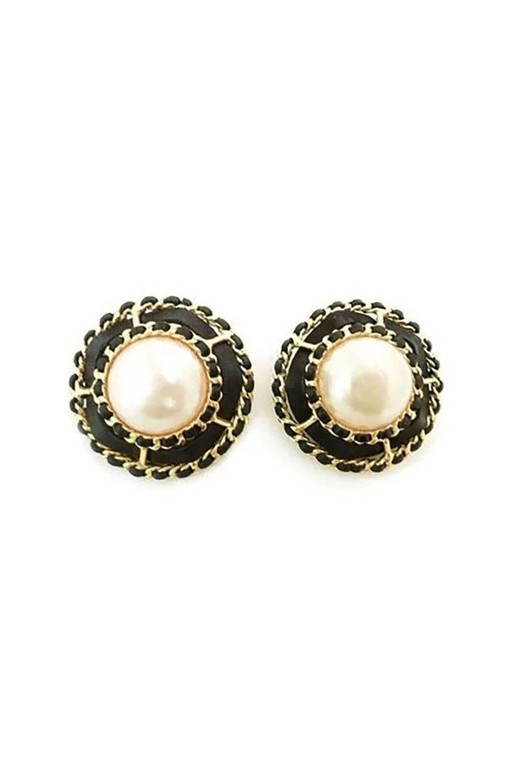 Vintage 1970's Large Signed Chanel 25 Earrings