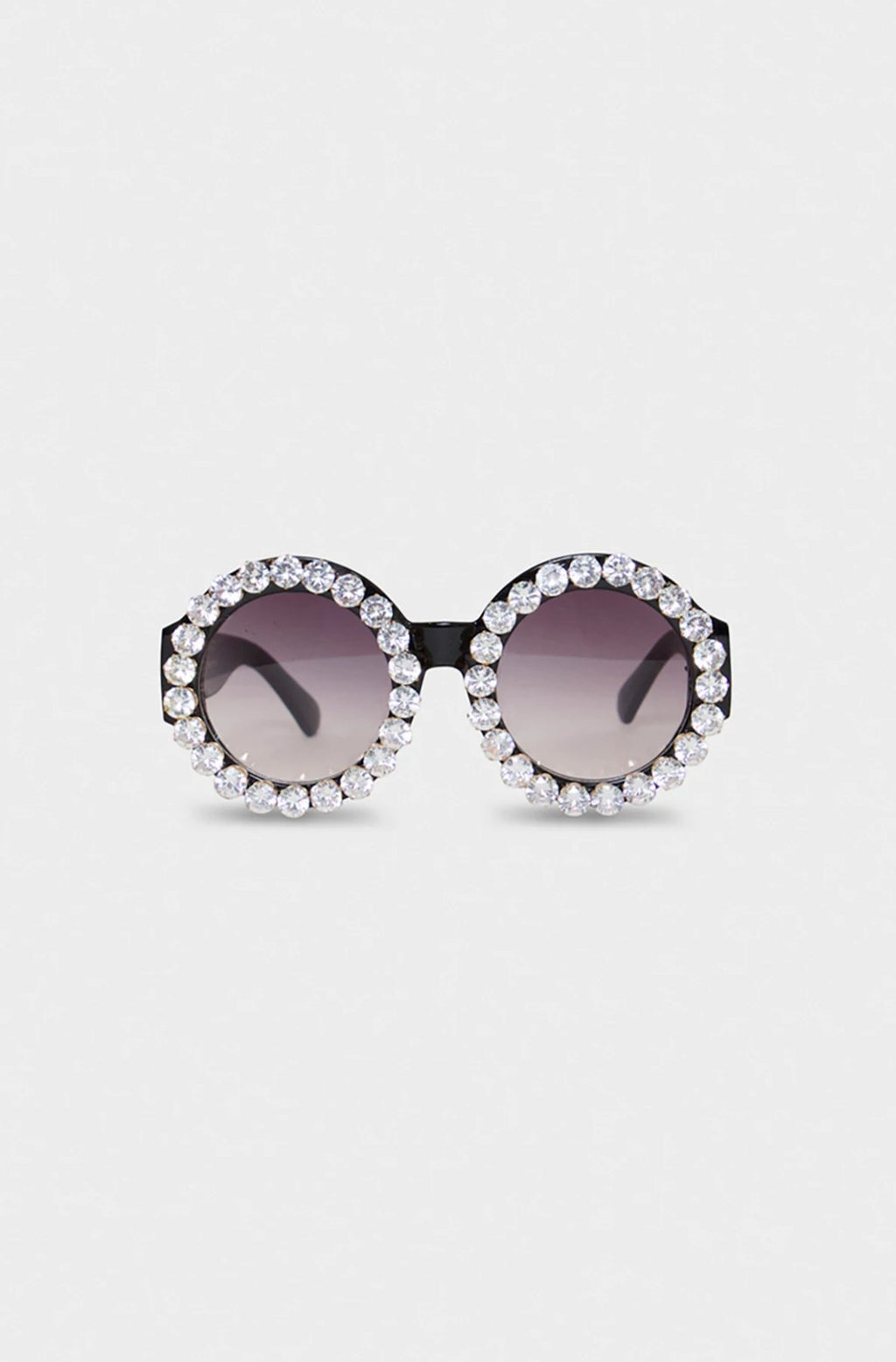Oversized Round Rhinestones Glasses