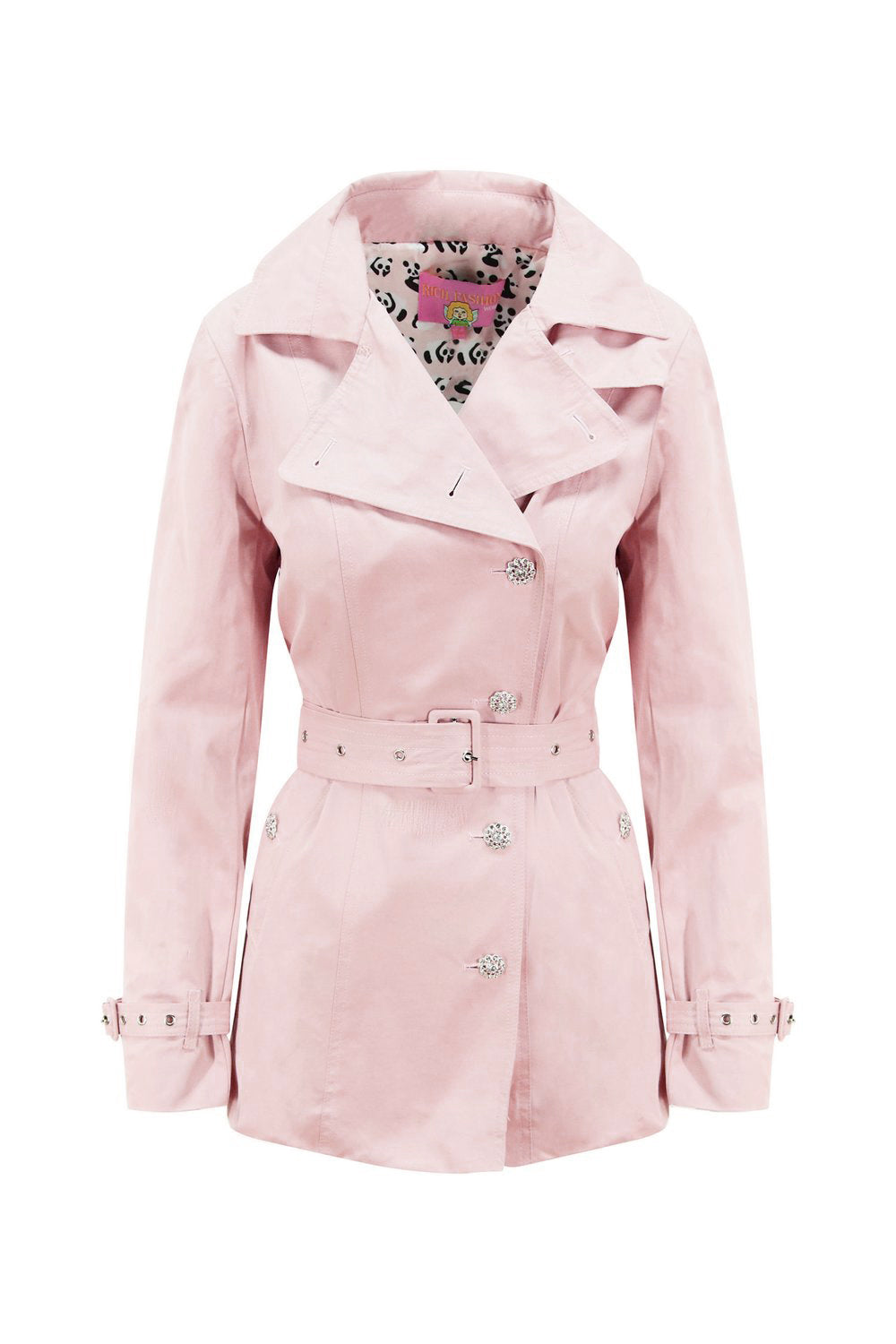 Panda Pink Short Trench Coat