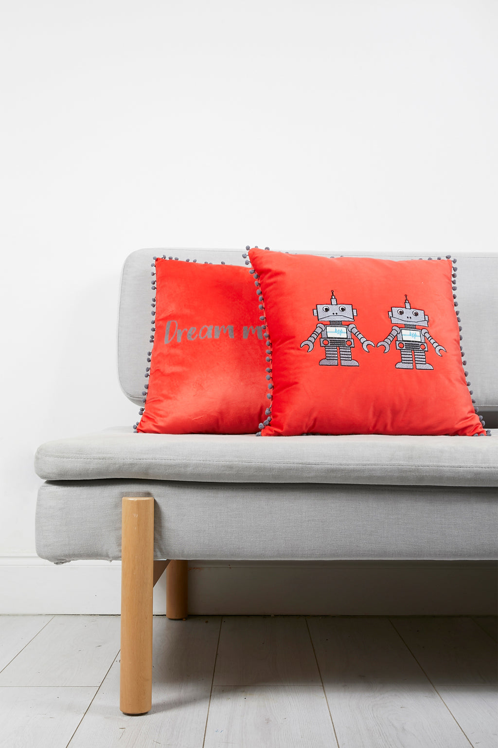 Robot Cushion with Tassels