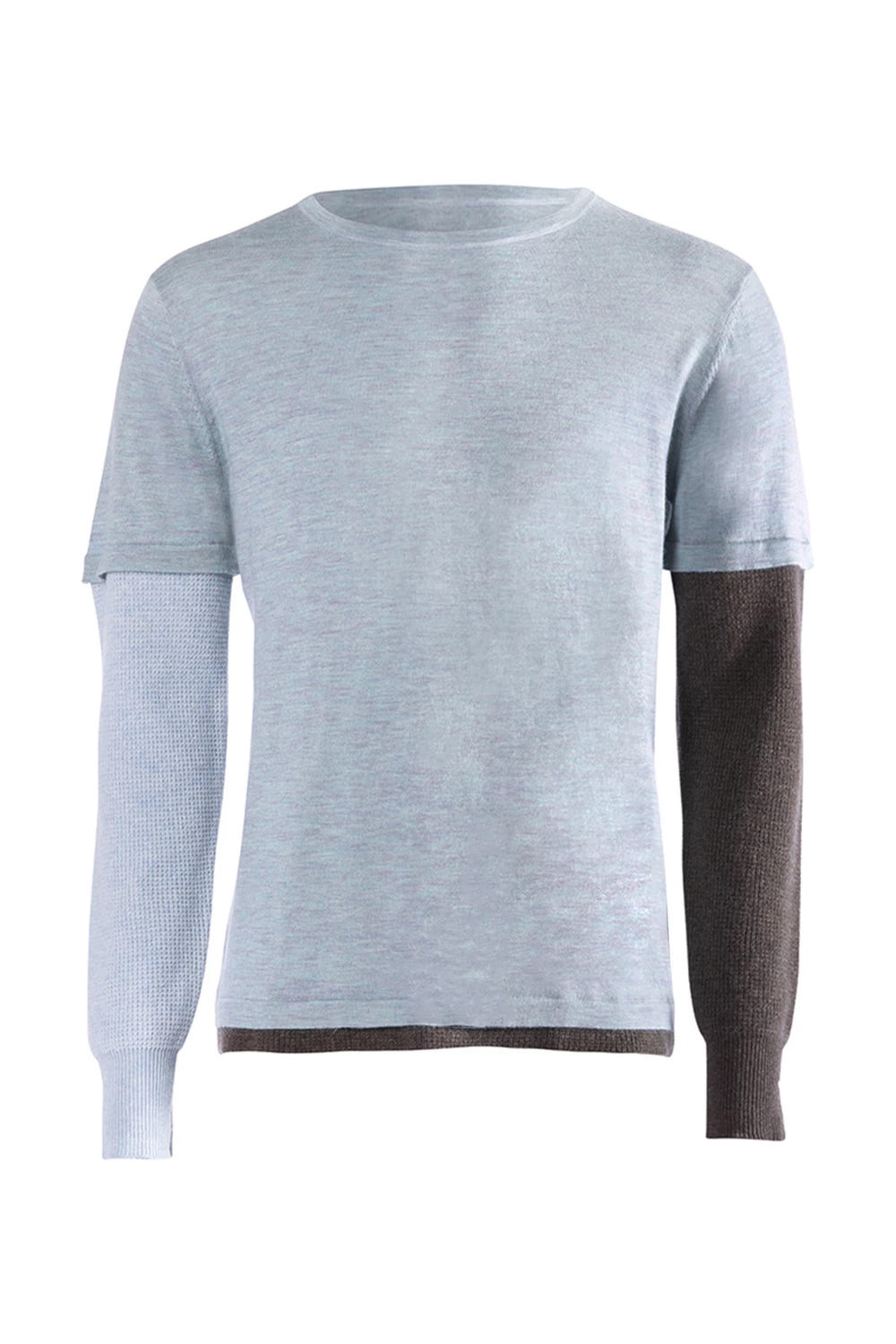 ISM Cashmere Waffle Long Sleeve Light Blue/Brown